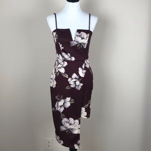 Charlotte Russe Floral Asymmetrical Dress